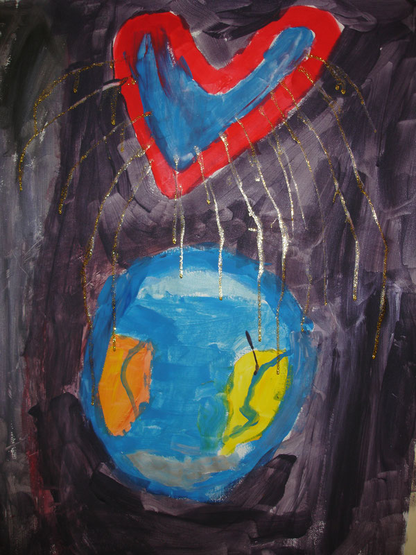 Kinder malen ihre Gefühle