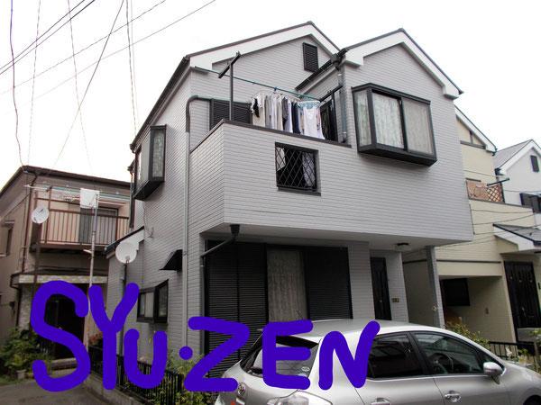 横浜市中区小港町周辺 外壁塗装と屋根塗。