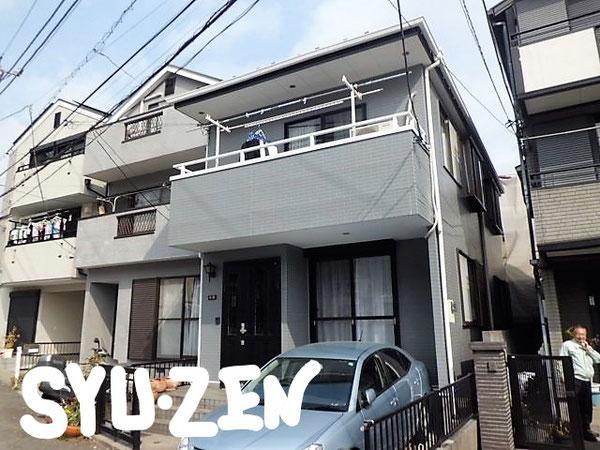 横浜市中区小港町。 外壁塗装と屋根塗装と目地交換。