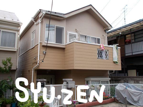 横浜市中区矢口台。 外壁塗装と屋根塗装です。