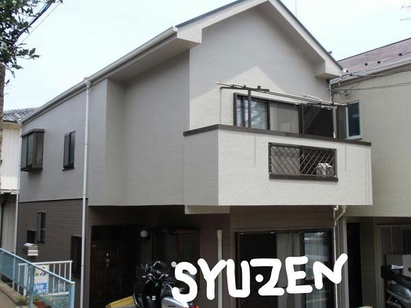 横浜市中区簑沢周辺。○○様邸の外壁塗装と屋根塗装。