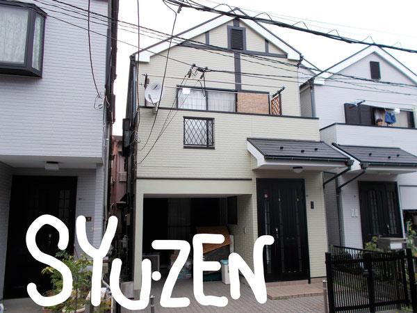 横浜市中区小港町の住宅。 外壁塗装と屋根塗装です。