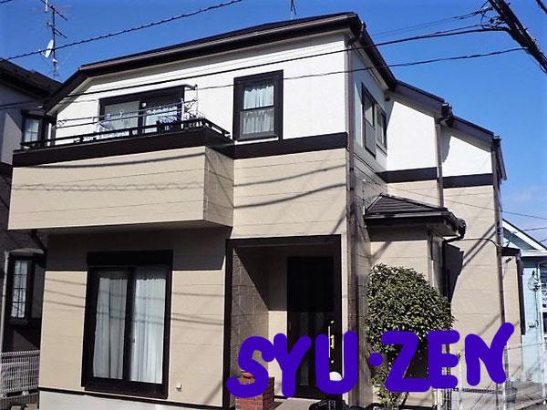 横浜市中区立野周辺。 外壁塗装と屋根塗装。