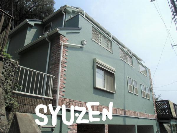 横浜市中区本牧町。 外壁塗装と屋根塗装
