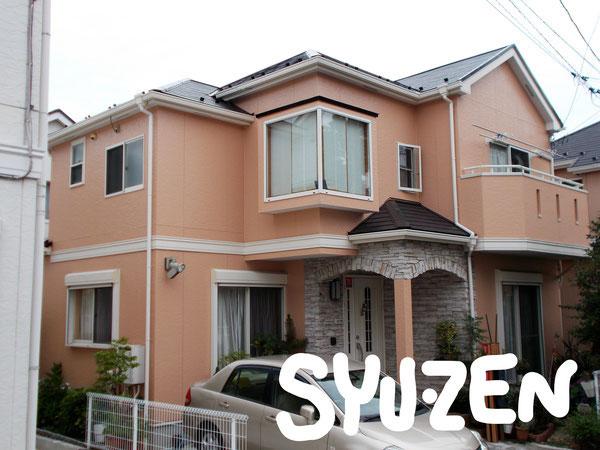 横浜市中区立野。○○様邸。外壁塗装と屋根塗装。