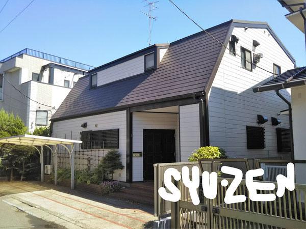 横浜市中区山手町。A様邸。 外壁塗装 屋根塗装。