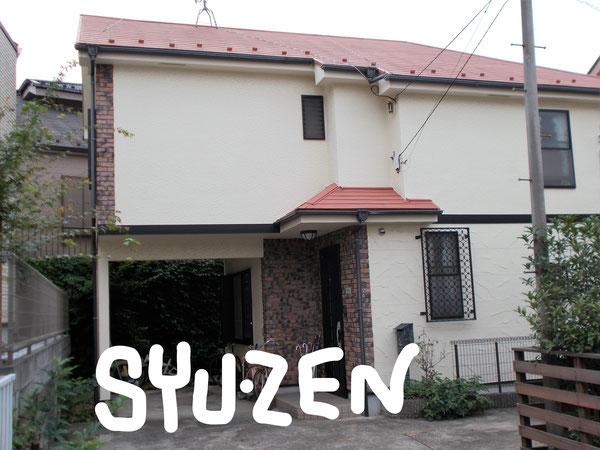 横浜市中区立野。○○様邸の外壁塗装と屋根塗装。