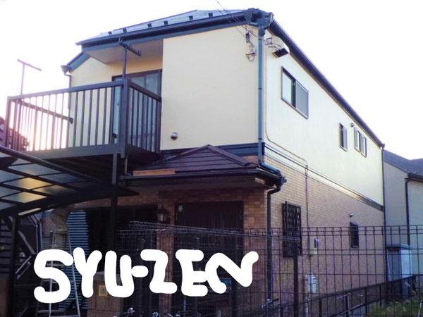 横浜市中区本牧三之谷。○○様邸。 外壁塗装と屋根塗装。