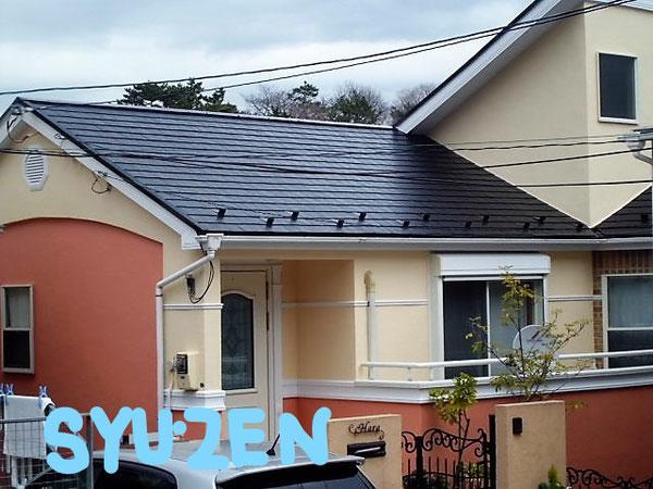 横浜市中区池袋周辺 外壁塗装と屋根塗装です。モダンな仕上がりになりました。