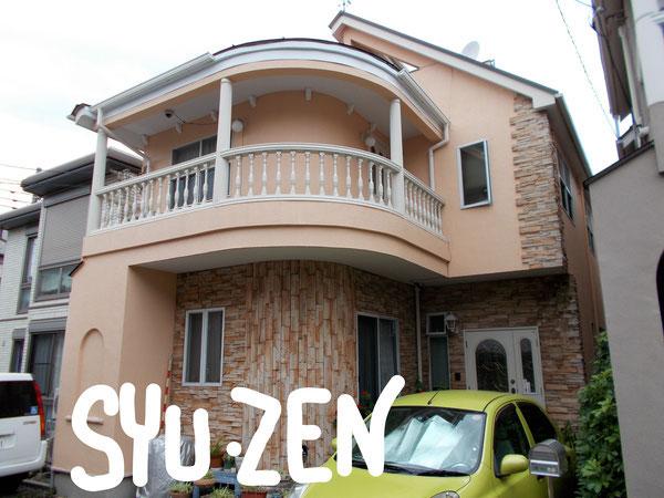 横浜市中区北方町  ○○様邸の外壁塗装。モダンな仕上がりです。