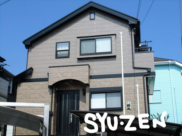 横浜市中区本牧緑が丘。クリヤーの外壁塗装。 目地交換工事。