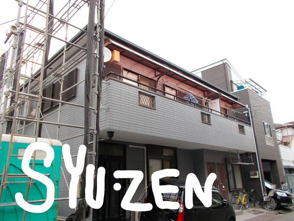 横浜市中区千代崎町周辺 外壁塗装と目地交換です。