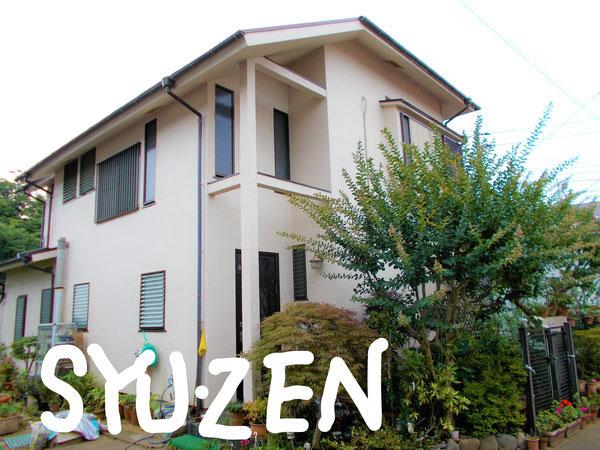 横浜市中区本郷町。○○様邸の外壁塗装と屋根塗装です。