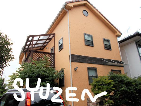 横浜市中区矢口台周辺 ○○様邸の外壁塗装工事です。