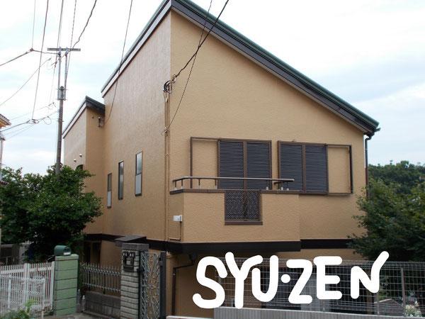 横浜市本牧緑が丘周辺 ○○様邸の外壁塗装です。