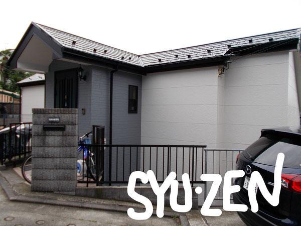 横浜市中区本牧満坂周辺 外壁塗装と屋根塗装。