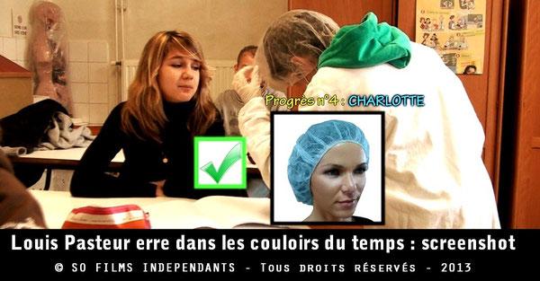 Des élèves font découvrir à Pasteur des progrès réalisés depuis le XIXe siècle en matière d'hygiène...