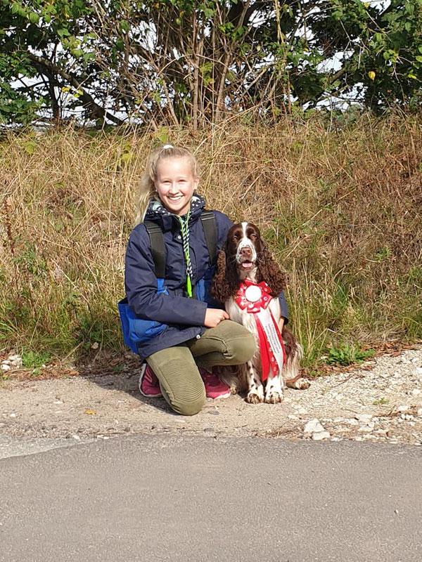 """""""Oda vom Belauer See"""" mit ihrer Führerin Marina, Foto: Claudia Bruhn"""