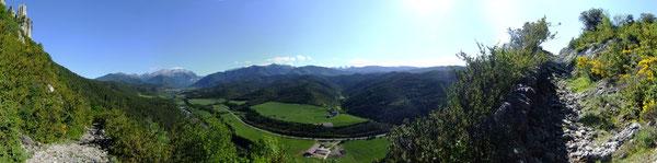 Panorama depuis le Camino de Santiago