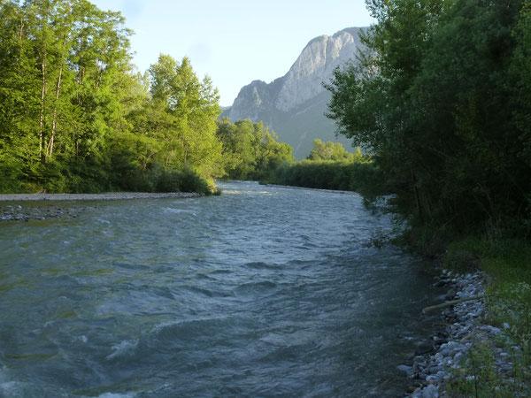 En rive gauche, les chemins longeant le Gave d'Aspe réservent des moments de nature bien plaisants.