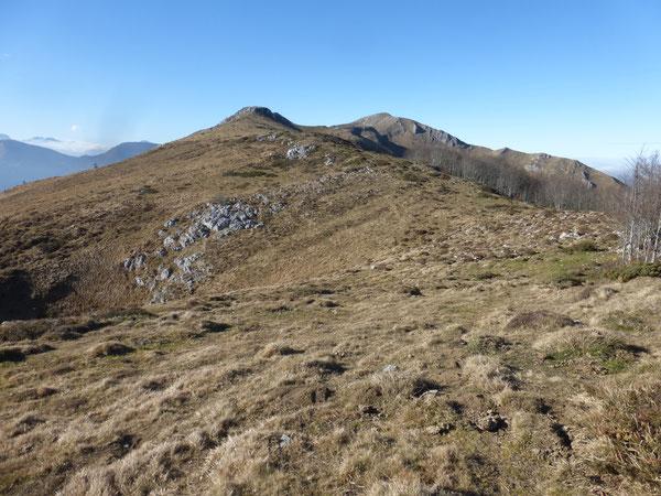 Du Col d'Oussa au sommet principal à l'Ouest, les crêtes du Layens offrent un paysage très étendu.