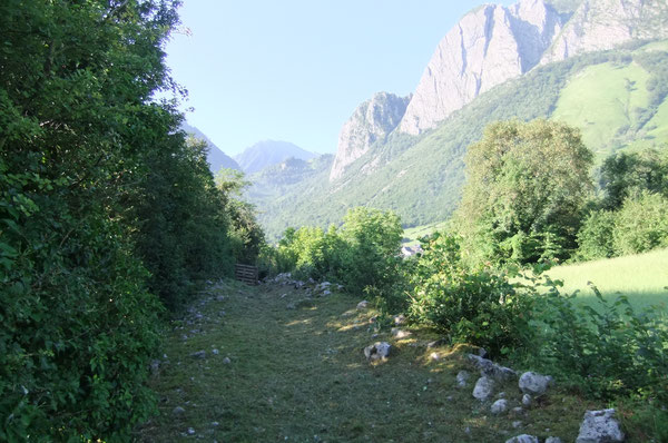 Les Anaques forment une mosaïque de prés calcaires entre Lées et Athas, ici sur le chemin du haut.
