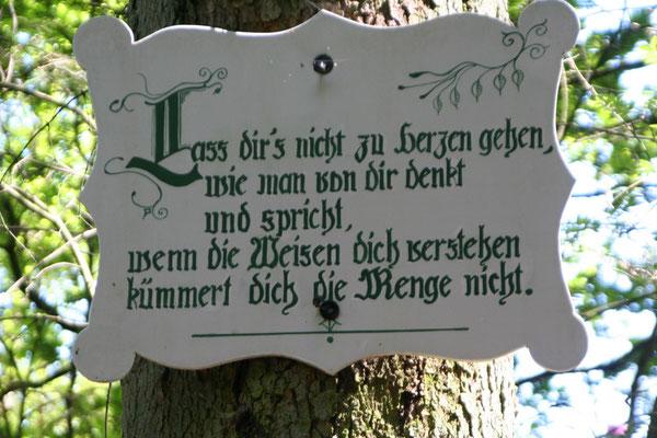 Schrifttafel im Berumerfehner Wald