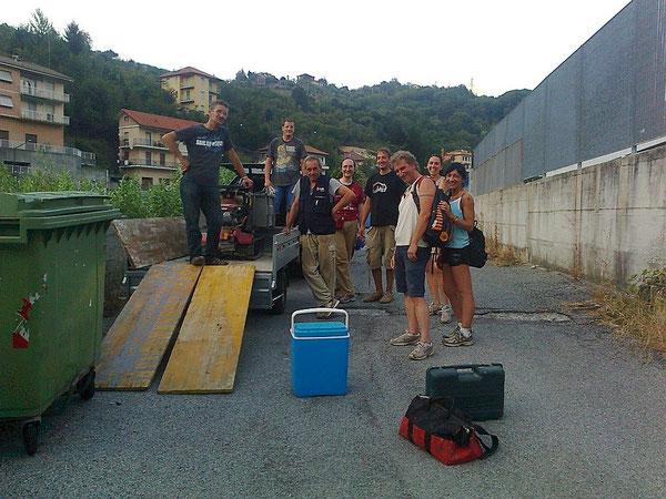 24 agosto, foto di gruppo a fine giornata