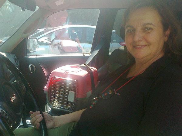 Vittoria con zia Tiziana, in partenza per una nuova vita