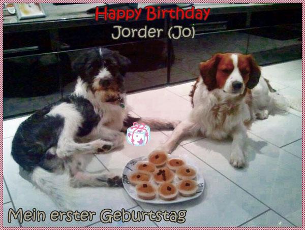 Jorder feiert seinen esrten Geburtstag