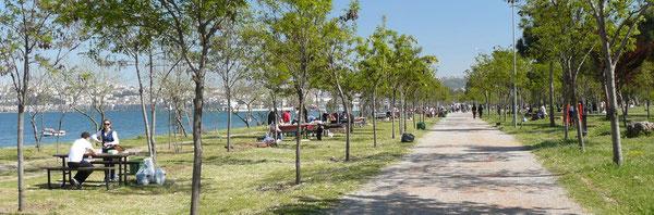 Dans le grand parc d'Izmir
