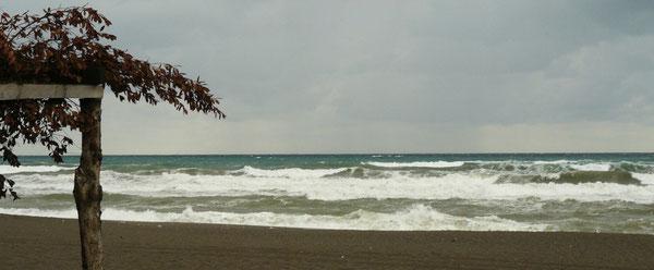 Mer déchaînée à Cayagzi