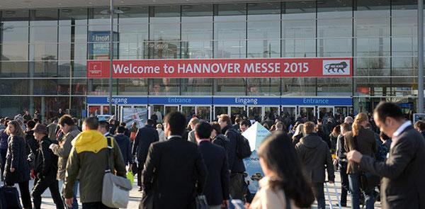 Die Hannover Messe ist die wichtigste Industriemesse weltweit (Eingang). Foto: Deutsche Messe