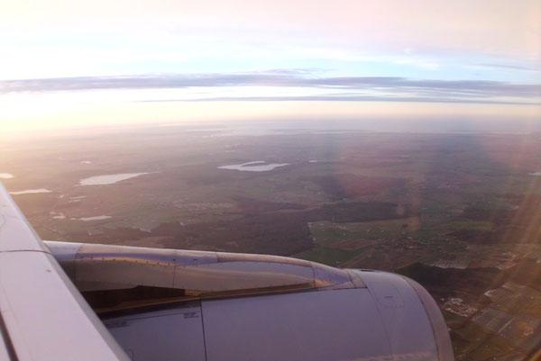Anflug auf Airport Rostock-Laage.