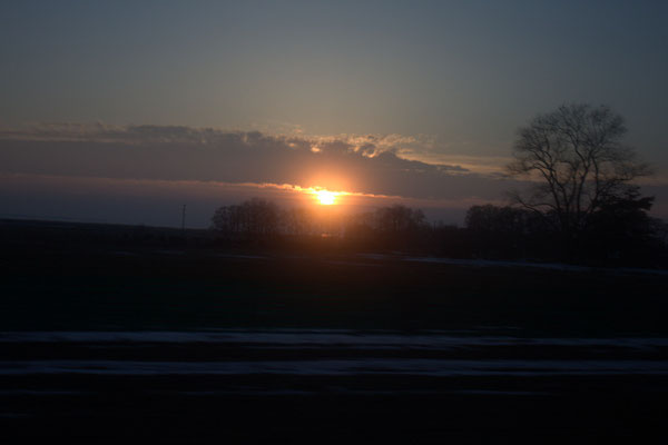 Sonnenuntergang über Usedom.