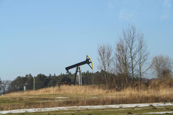 Auch Erdöl wird auf Usedom gefördert-nur minimal aber sehr hochwertiges Öl-ca. 1000 Tonnen pro Jahr.