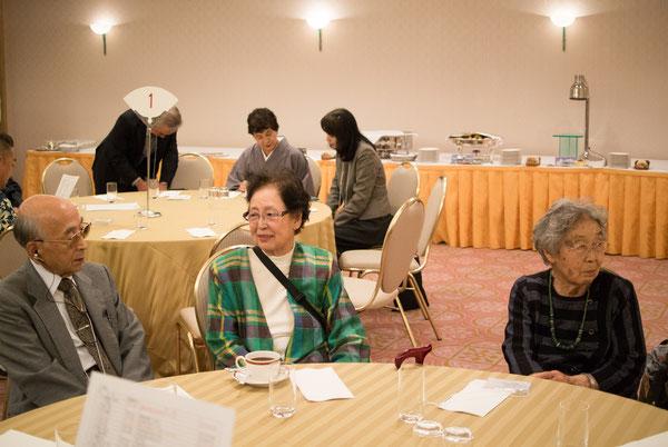 出席された先生方 左から本木先生、夏目先生、堀部先生