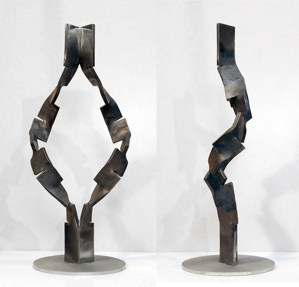 Metamorphosis- inside out   <No.M-38>   mild steel /h.58x26x22cm /2014