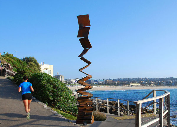 Metamorphosis - to the sky <No.M-44>        cor-ten steel /H.400x60x60cm /2014  (Sydney,Australia)