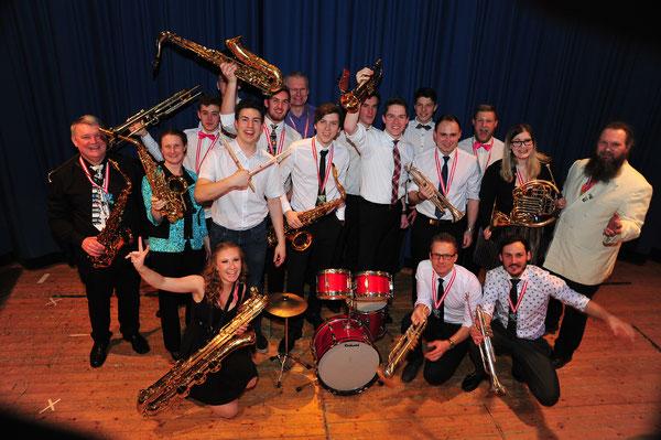 Big Band der Musikschule Zeltweg unter der Leitung von Kapellmeister Herbert Bauer