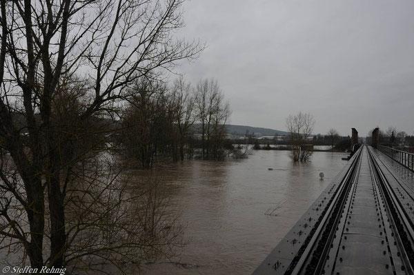 Regnitzbrücke bei Pettstadt (9. Januar 2011)