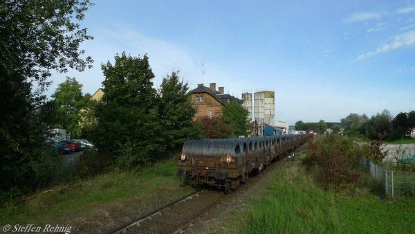 Ende der Zugfahrt (7. September 2010)