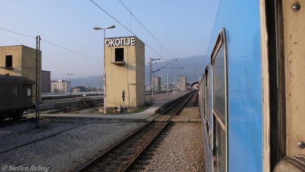 Einfahrt in Skopje