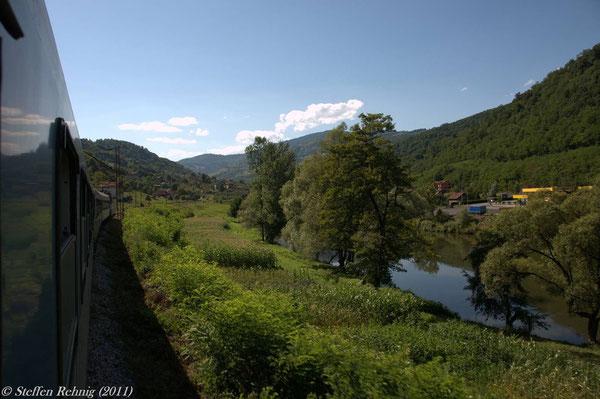 weiter geht es durch das schöne Tal der Bosna