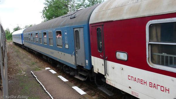 """Zugkreuzung mit D 460 """"TRANSBALKAN"""""""