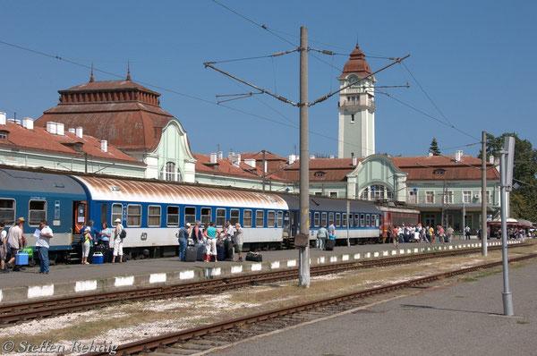 kurz nach der Ankunft im Bahnhof Burgas