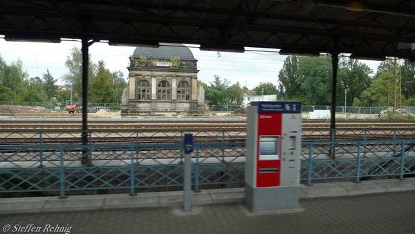 ...das Empfangsgebäude Gößnitz