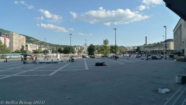 Bahnhofsvorplatz von Sarajevo