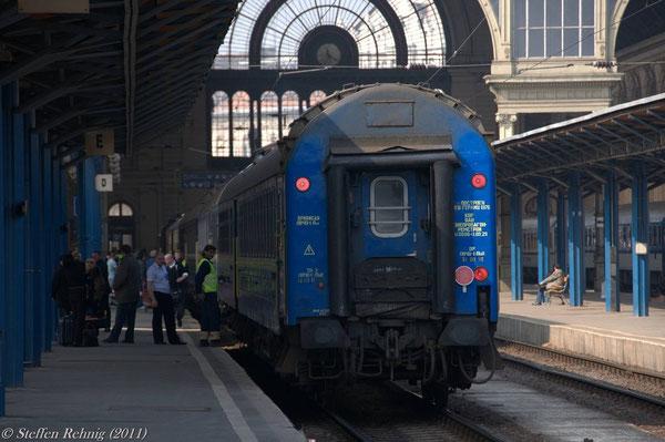 Schlafwagen Kiew - Budapest in Budapest Keleti (29. März 2011)