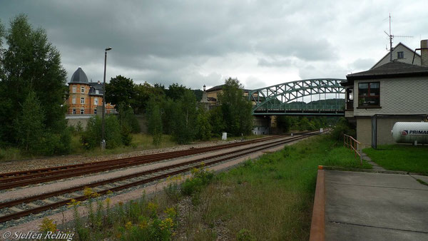 Blick von der Kopframpe Richtung Stellwerk B 2 (September 2010)